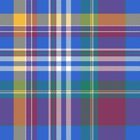 celtic background: Blue plaid tartan seamless pattern. Vector illustration. Illustration