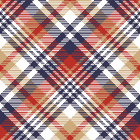 Check classic tartan seamless pattern. Vector illustration.  イラスト・ベクター素材