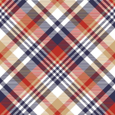 Check classic tartan seamless pattern. Vector illustration. Vettoriali
