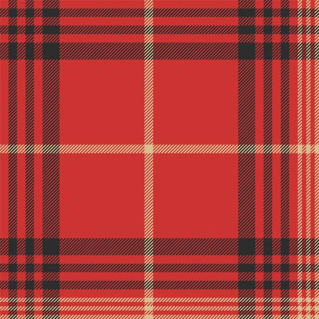 Check red tartan seamless pattern. Vector illustration. Illustration