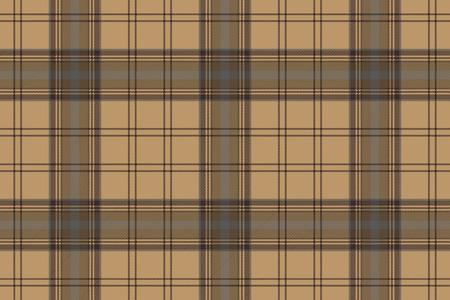 celtic background: Tartan brown beige seamless fabric texture. Vector illustration.