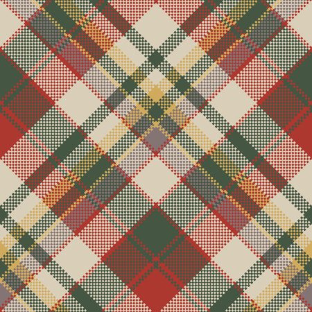 coarse: Burlap tartan fabric texture check seamless pattern. Vector illustration. Illustration