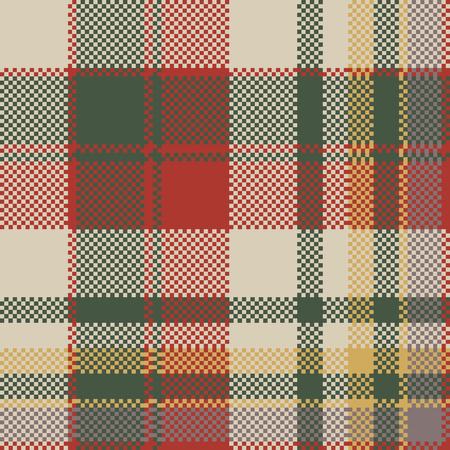 Burlap tartan fabric texture check seamless pattern. Vector illustration.