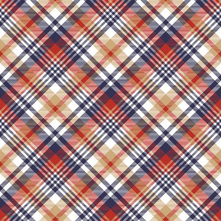 celtic background: Check classic tartan seamless pattern. Vector illustration. Illustration