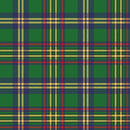 madras: Green tartan classic seamless pattern. Vector illustration.