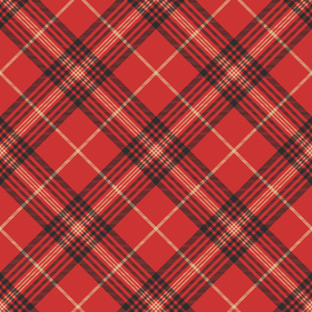 Check red tartan seamless pattern. Vector illustration. Stock Illustratie