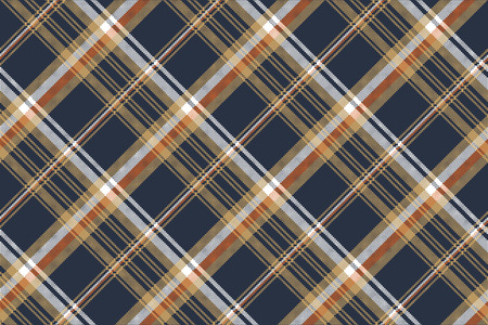 Blue check pixel fabric texture seamless pattern. Vector illustration. Illustration