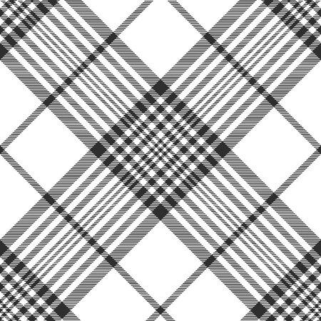 celtic background: Monochrome fabric diagonal seamless texture. Vector illustration. Illustration
