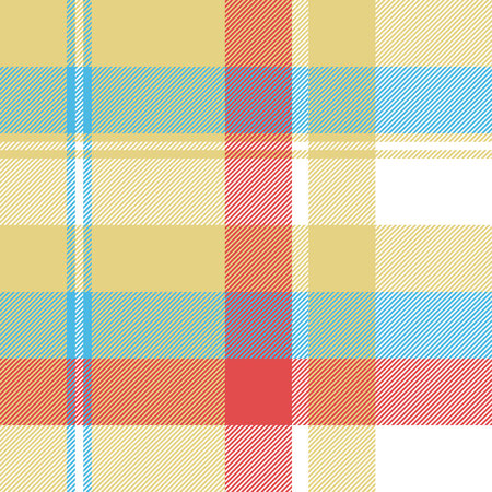Yellow plaid tartan seamless pattern. Vector illustration.