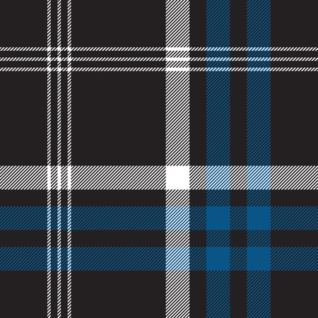 celtic background: Black check seamless fabric texture. Vector illustration. Illustration