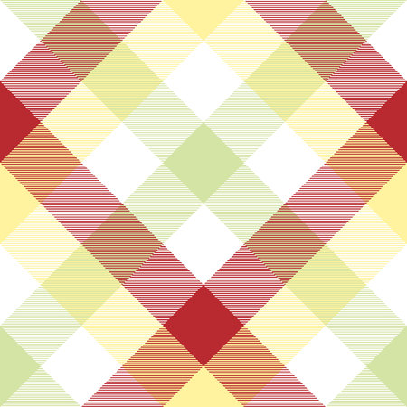 Abstract plaid fabric texture seamless pattern. Vector illustration. Stock Illustratie