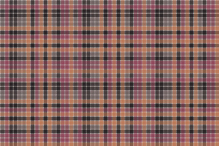 english culture: Red orange mosaic plaid seamless fabric texture. Flat design. Vector illustration.