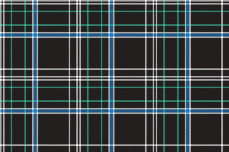 celtic: Black check plaid fabric texture seamless pattern. Flat design. Vector illustration. Illustration