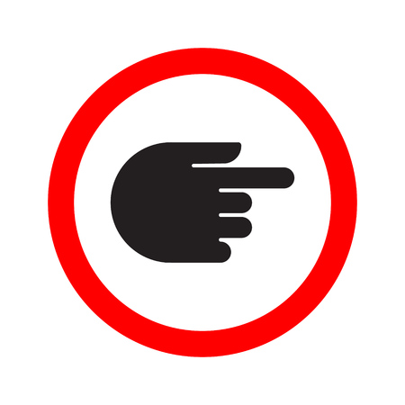 Traffic indicator turn sign hand. Vector illustration. Illustration