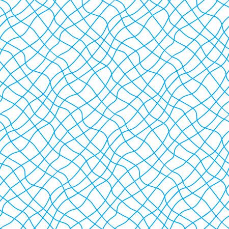 Blue seine seamless pattern. Vector illustration.