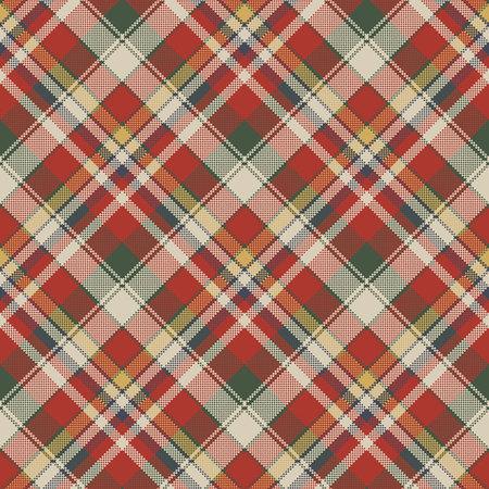 Canvas pixel plaid seamless fabric texture. Vector illustration. 向量圖像