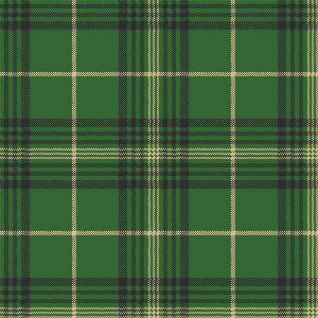 Green check plaid tartan seamless pattern. Vector illustration. Vektoros illusztráció