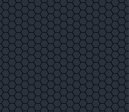 Dark gray technology hexagon honeycomb seamless pattern. Vector illustration. Illusztráció