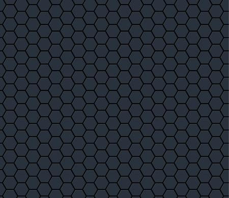 Donkergrijs technologie hexagon honingraat naadloos patroon. Vector illustratie.