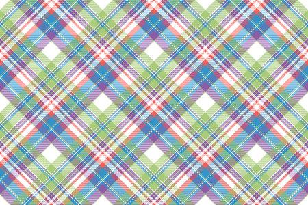 Tartan color plaid fabric seamless pattern. Flat design. Vector illustration. Illustration