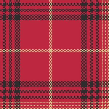 Rode check plaid tartan naadloze patroon. Vector illustratie. Stock Illustratie