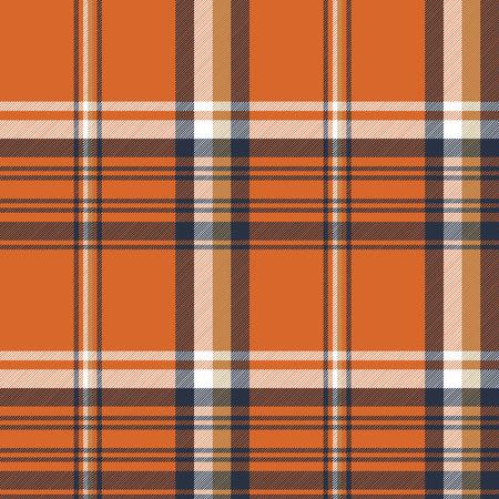 Orange check plaid seamless pattern. Vector illustration. Illustration
