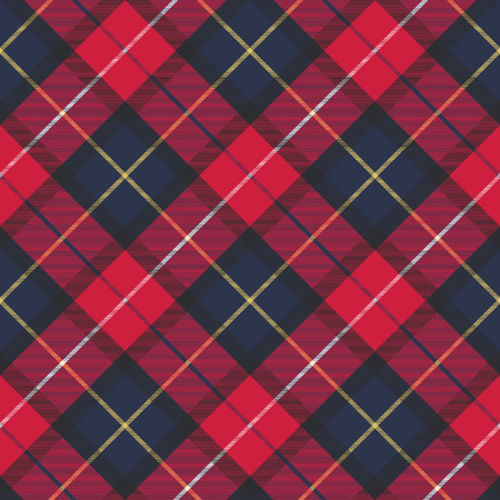 Seamless pattern check plaid fabric texture. Vector illustration. Vettoriali