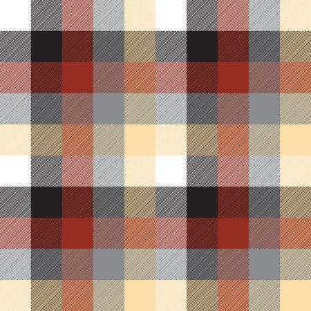 Beige color check plaid seamless pattern. Vector illustration.  イラスト・ベクター素材