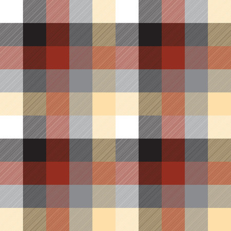 Beige color check plaid seamless pattern. Vector illustration. Vectores