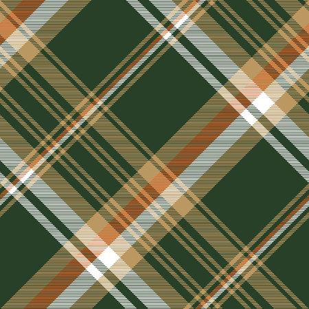 Green tartan check plaid seamless pattern. Vector illustration. Illustration