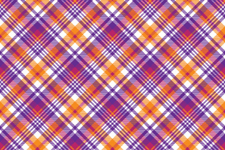 Pink orange plaid madras seamless pattern. Vector illustration. Imagens - 89790713