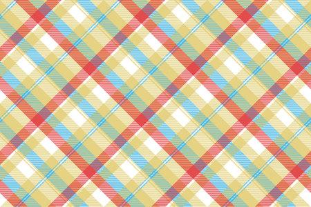 Yellow plaid tartan seamless pattern. Vector illustration.