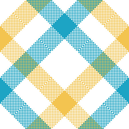 Check tablecloth pixel seamless pattern fabric texture.