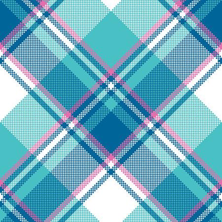 Baby boy blue pastel color plaid seamless pattern.