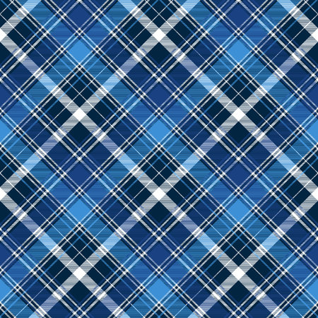 Blue abstract check textile pattern design.