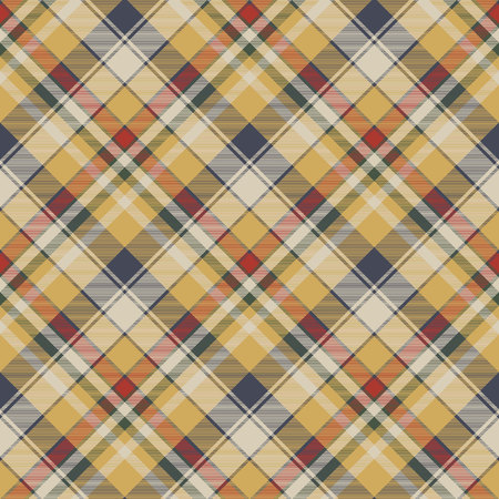 Yellow plaid check fabric texture pattern design.