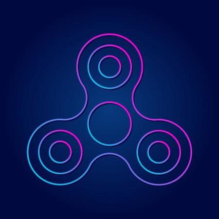 Modern symbol hand spinner future sign.