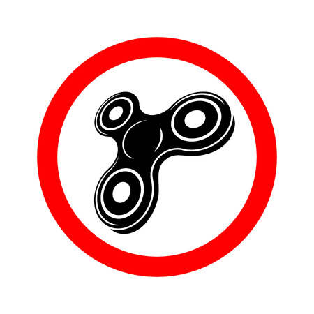 Banning spinner sign. Illustration