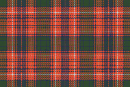 Tartan pixel check texture seamless background vector illustration. Illustration