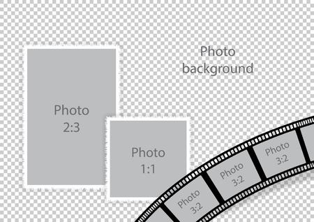 Bruiloftskaders voor fotomontage. Vector illustratie.