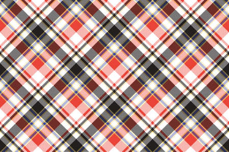 Plaid mosaic pixel seamless pattern. Vector illustration.  イラスト・ベクター素材