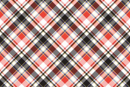 Plaid mosaic pixel seamless pattern. Vector illustration. Illustration