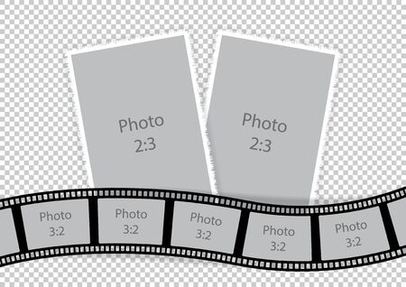 Collage of picture frames from film template ideas.