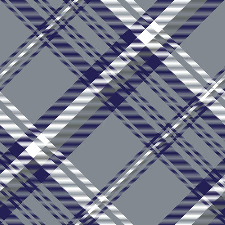 Gray diagonal plaid seamless pattern. Vector illustration. Illustration
