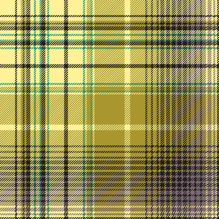 Green abstract check plaid seamless pattern. Vector illustration. 向量圖像