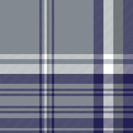 Gray diagonal plaid seamless pattern. Vector illustration. Stock Illustratie