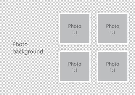 Wedding photo albums template photoframes. Vector illustration.