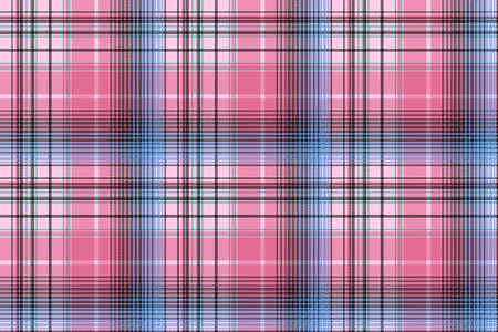 Blue pink abstract check plaid seamless pattern vector illustration. Stock Illustratie
