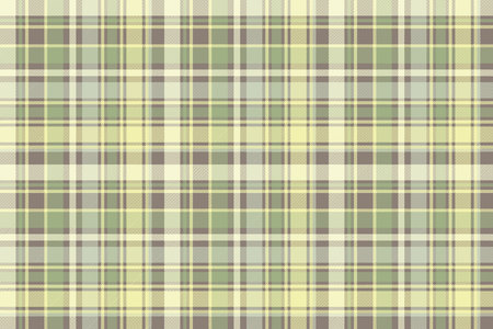 Tartan plaid fabric texture seamless pattern vector illustration.