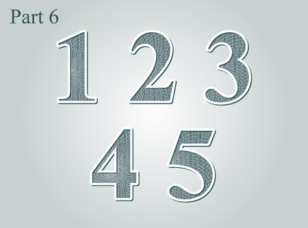 Numbers diploma certificate money grid texture. Vector illustration.